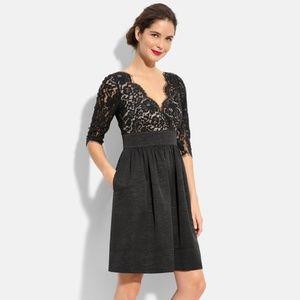 Eliza J Lace & Faille Dress Size 2 Empire Waist